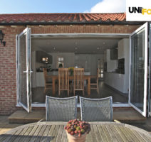 Aluminium unifold Bi-Fold Door Suppliers London UK