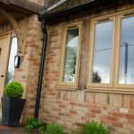 residence wood finish windows