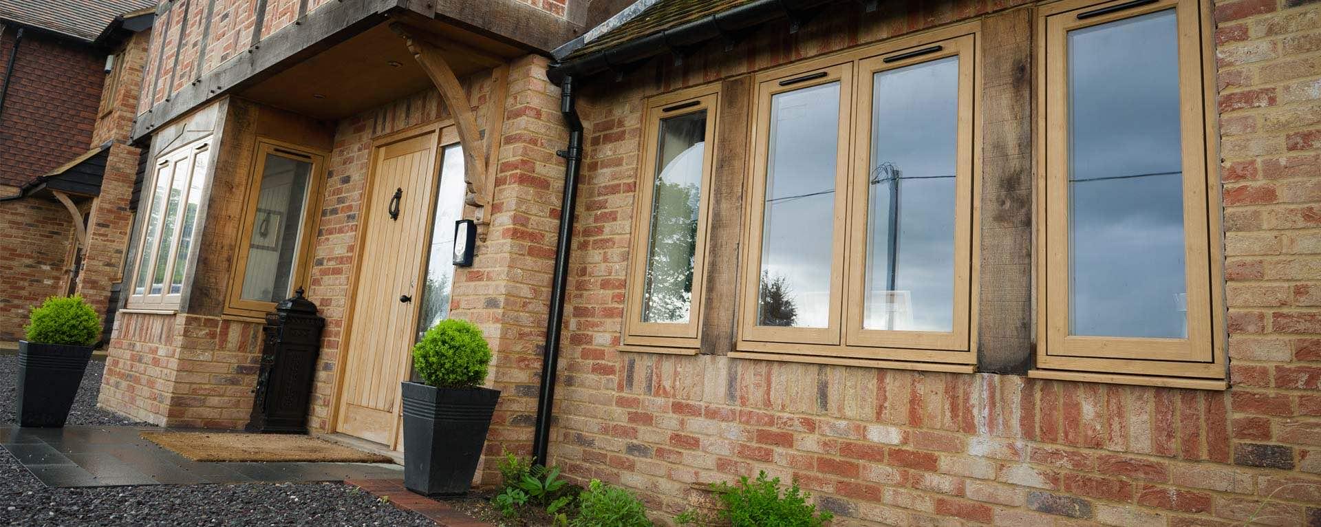 residence wood finish windows
