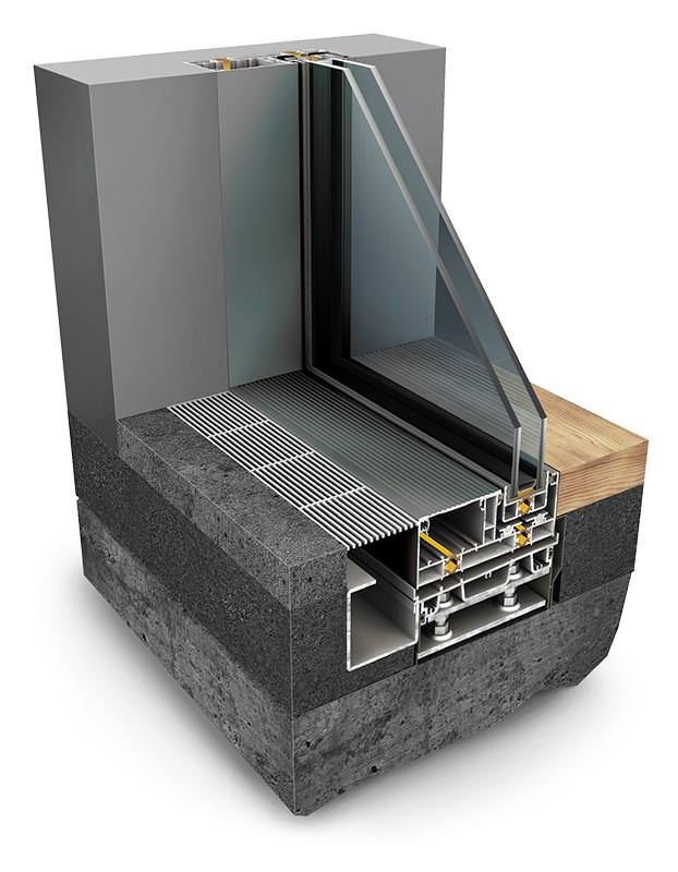 InfiniGlide 6 Slimline Patio Doors Technical Drawing