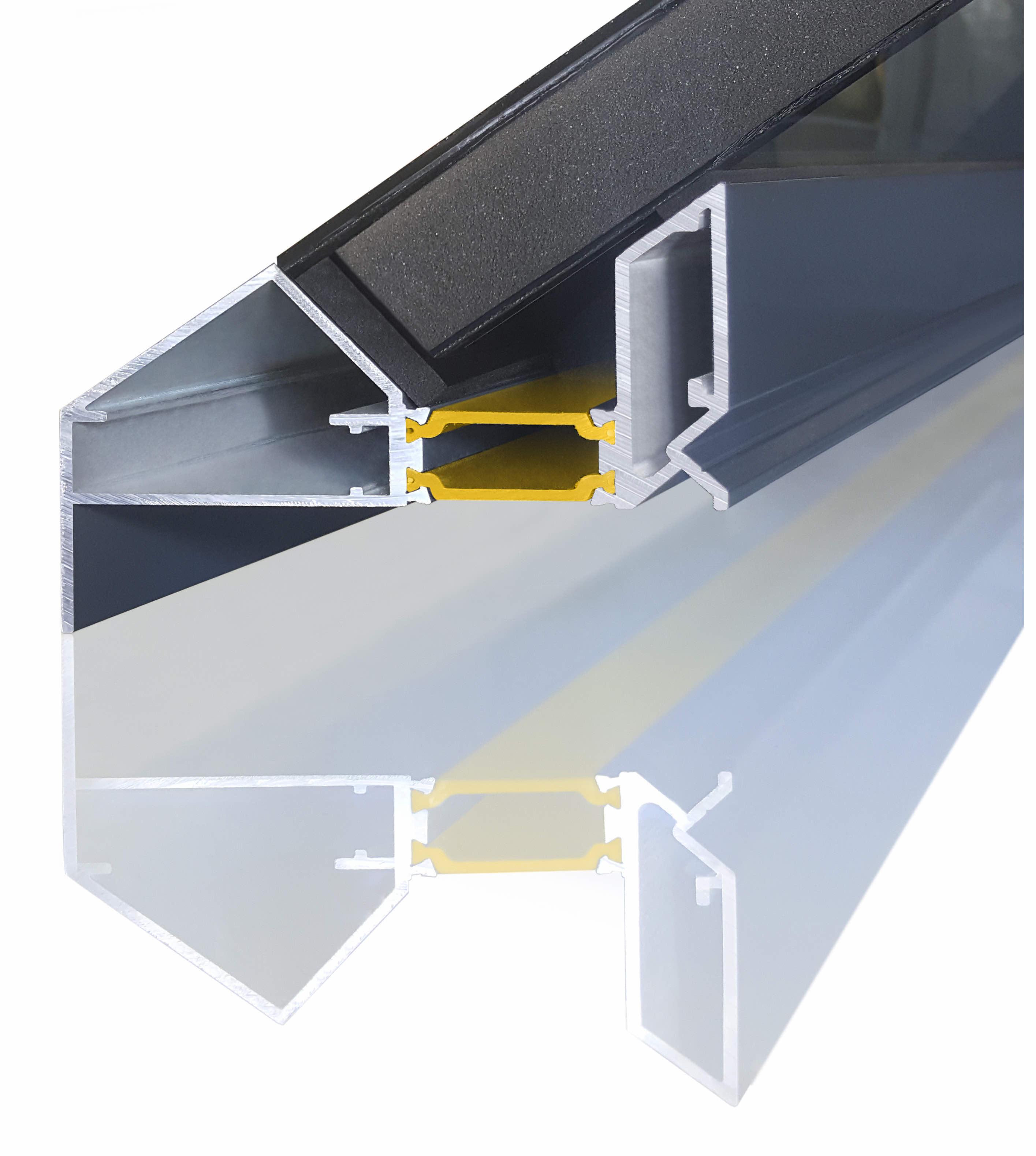 Aluminium Roof Lantern Technical Drawing