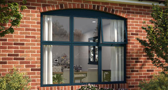 ALUK 58BW Flush Casement Windows